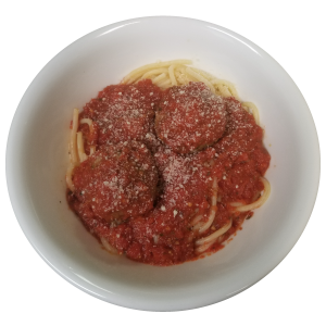 Jenny Lynd's Pizza - Kid's Menu Spaghetti and Meatballs