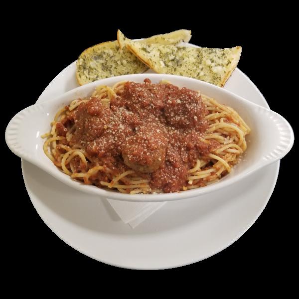 Spaghetti at Jenny Lynd's Pizza